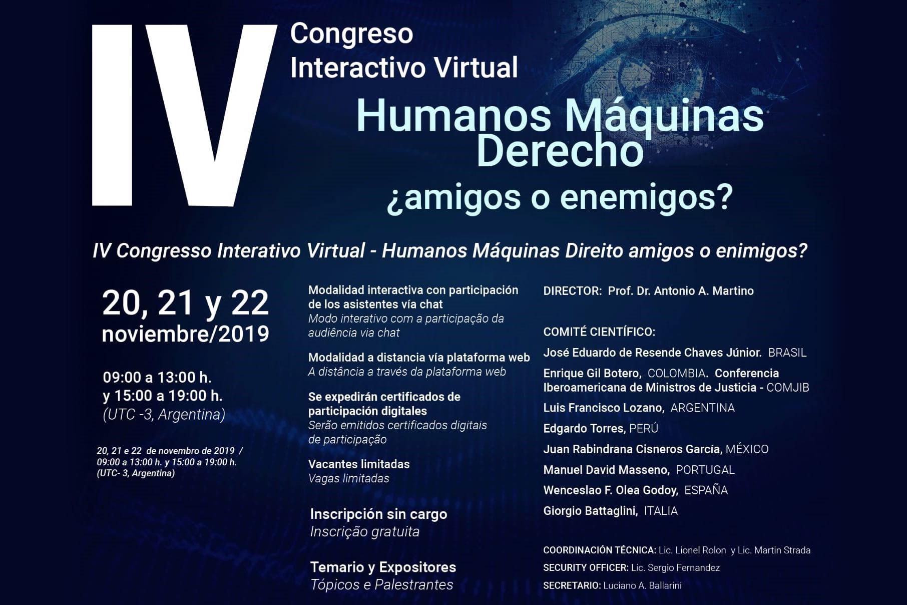 OJD-Funglode participa en IV Congreso Interactivo Virtual E-Justicia Latinoamérica